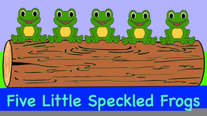 5 Green & Speckled Frogs