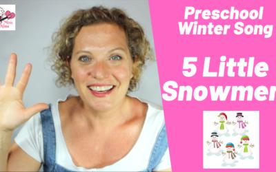 New Year! New Videos!! #1 of 52 – 5 Little Snowmen