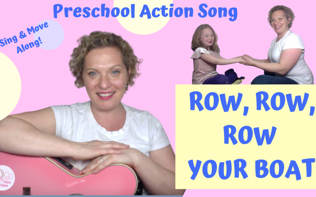 Preschool Action Song | Row Row Row Your Boat | Sing and Move Along