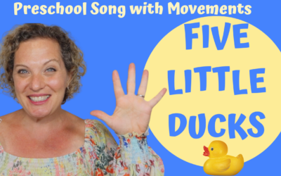 5 Little Ducks | Preschool Number Song with Movements