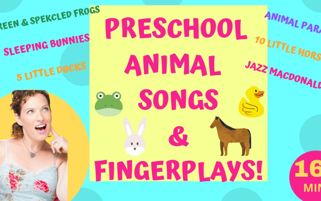 Six Preschool Animal Action Songs & Fingerplays | 5 Green & Speckled Frogs, Sleeping Bunnies…
