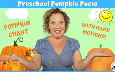 Kids Pumpkin Chant | Preschool Pumpkin Rhyme with Motions